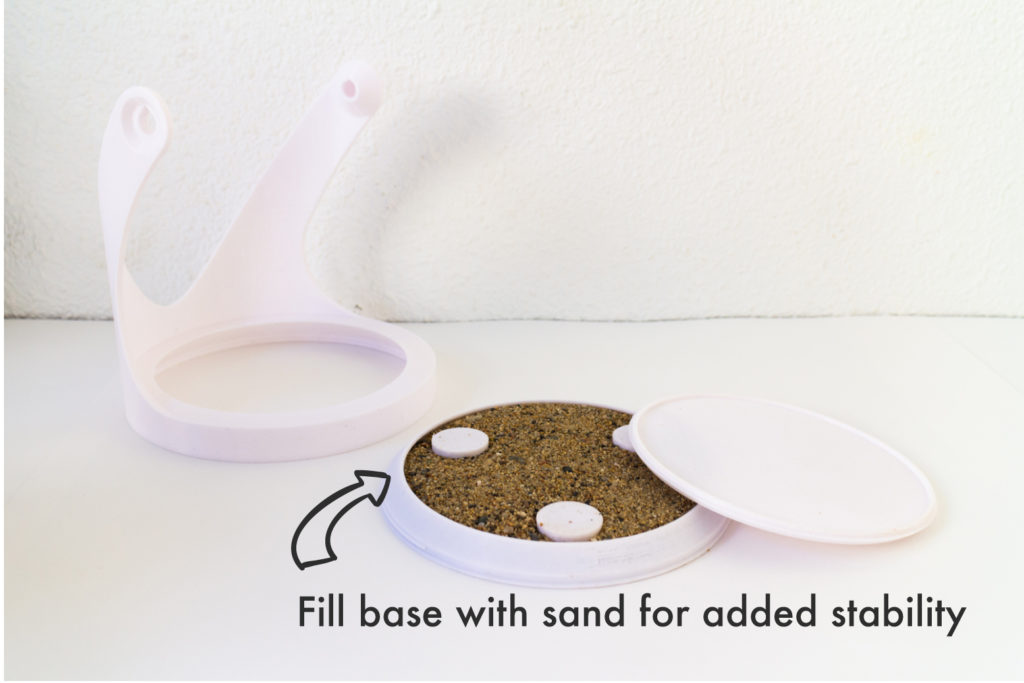 Option to fill base with sand for added stability