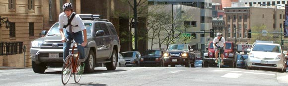 """Bike commuting rocks"""