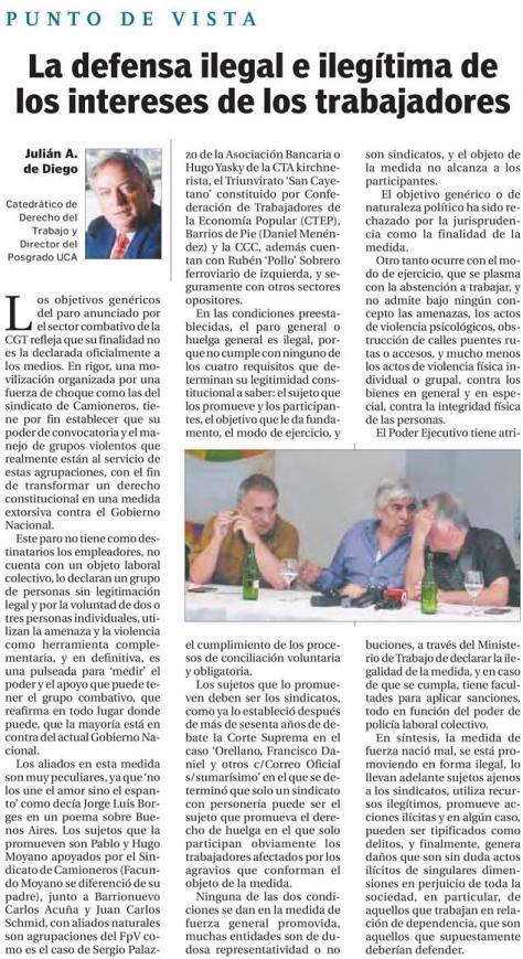 El Cronista 7.02.2018 Profesor Derecho del Trabajo y Escuela de Negocios J de Diego.jpg