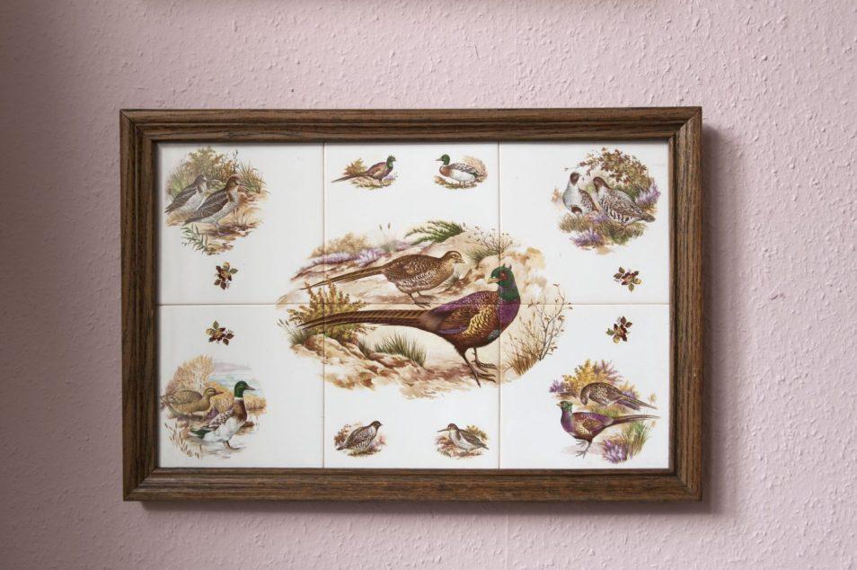 vintage lijst fazant