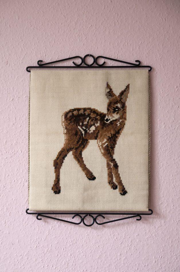 vintage wandkleed hertje bambi