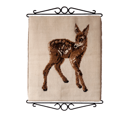 vintage wandkleed bambi klein hertje