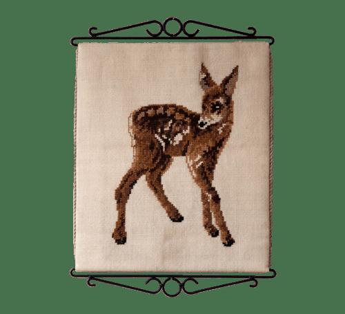 vintage wandkleed bambi klein hertje