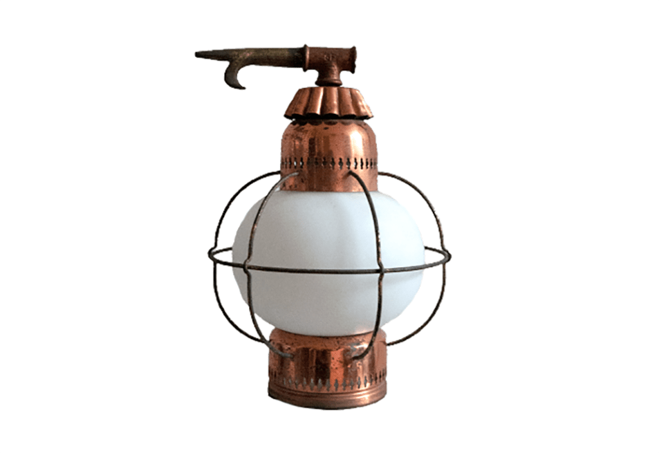 vintage koperen scheepslamp