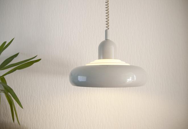 Industriële UFO hanglamp Knud Christensen