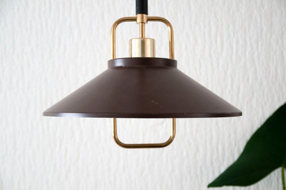vintage bruin gouden hanglamp