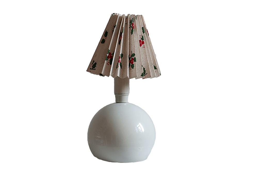 kleine witte tafellamp kersttakjes kap