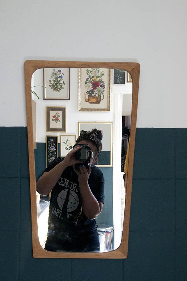 Lichthouten taps vintage spiegel