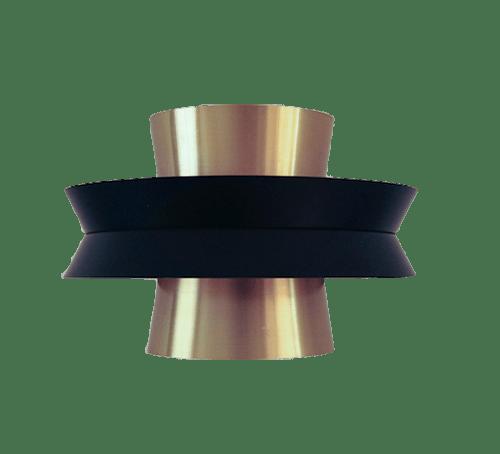 zwart gouden lamp Carlo Thore