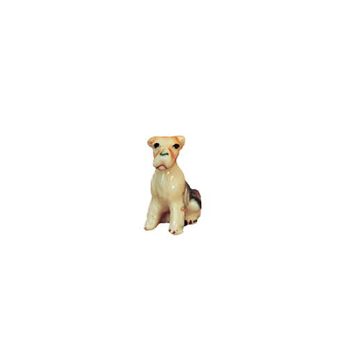 beeldje klein hondje oranje oren