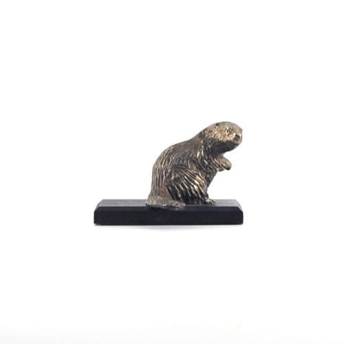 bronzen bever beeldje