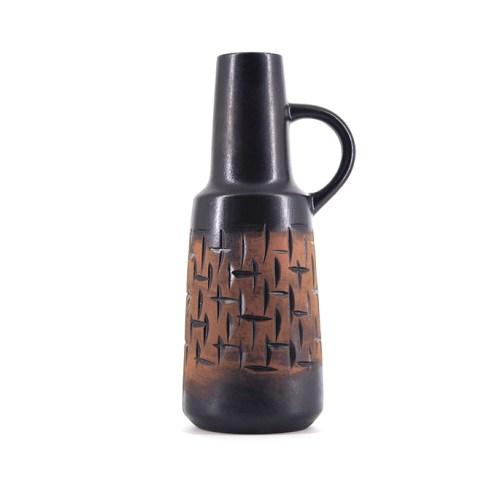 donker bruine vintage vaas