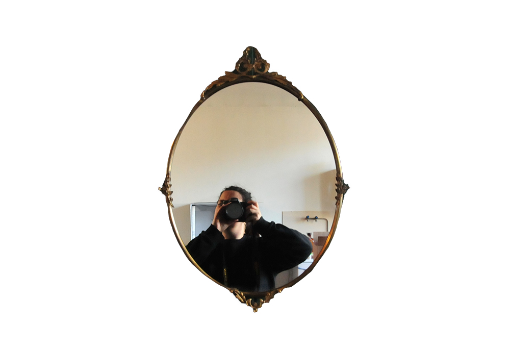 spiegel sierlijke blaadjes