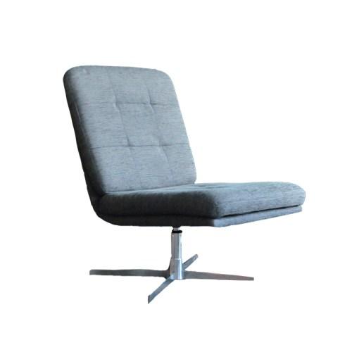 grijze draai fauteuil