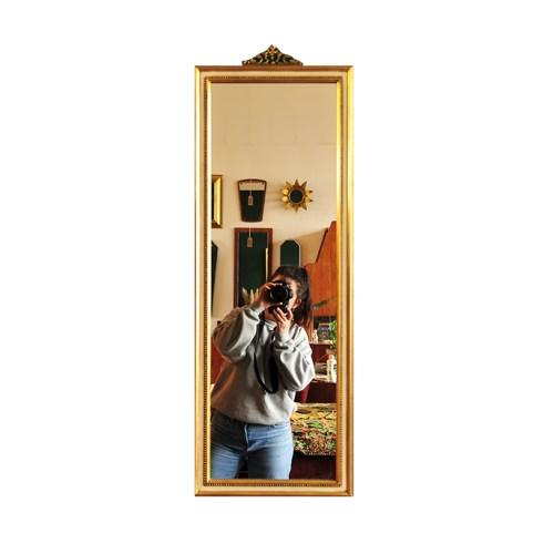 rechthoekige vintage gouden spiegel