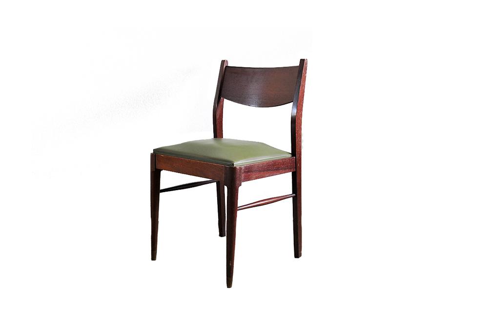 set 6 houten stoelen groen