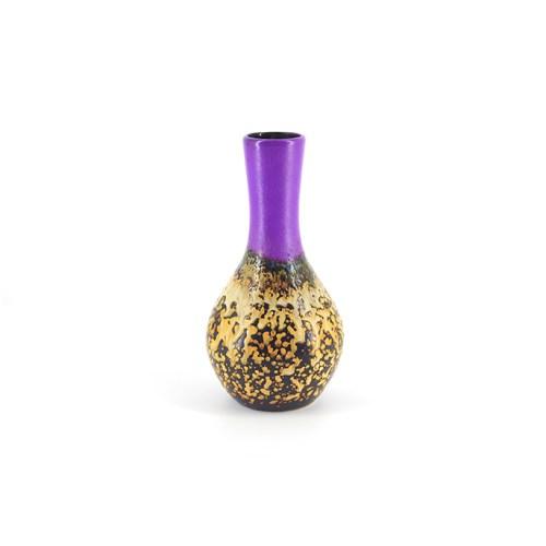 paarse vintage vaas gele onderkant