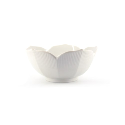 witte porseleinen schaal bladvorm
