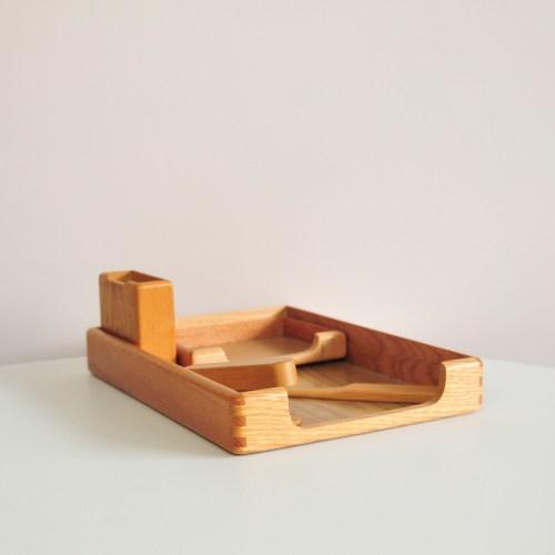 houten bureauset 5-delig