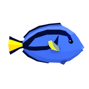 LowPoly Colorful Reef Fishes (Part 2/3)