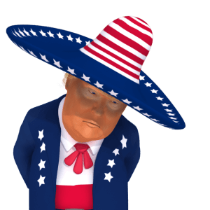 #trumpstickers Disappointed Trump 3D Caricature