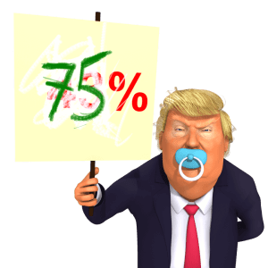 trump toddler approval 75