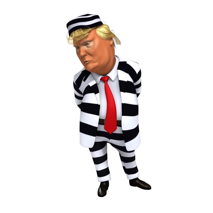 Trump in stripes