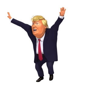 Fortnite Jubilation Trump 3D caricature PNG
