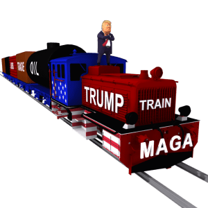 Trump Train 3D Caricature