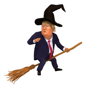 Trump Witch Hunt 3D Caricature