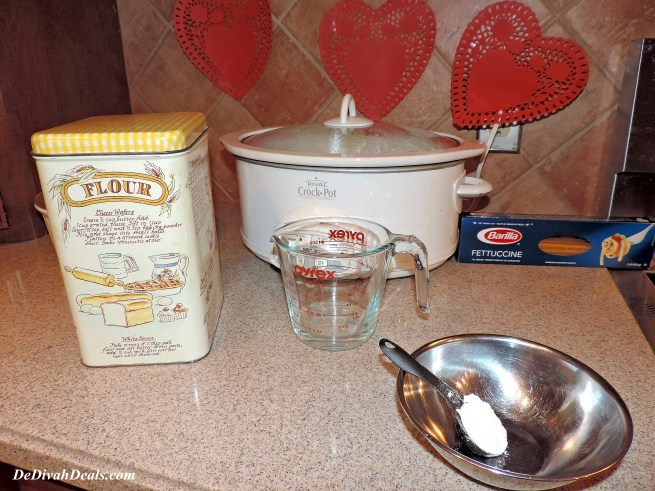 Mix water and flour then add to liquid in Crock Pot