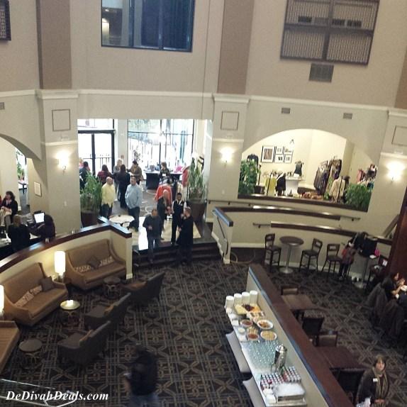 Lobby of Sheraton Hotel