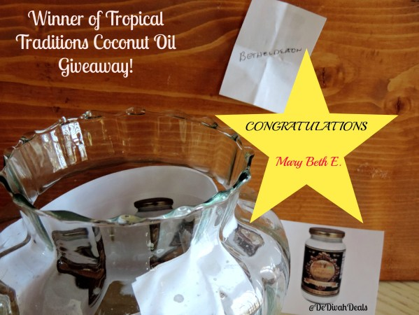 Winner of Tropical Traditions Coconut Oil