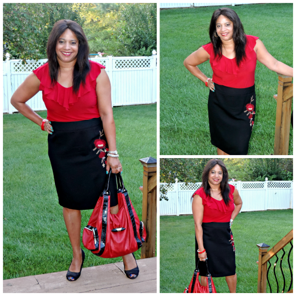 Black and Red ootd