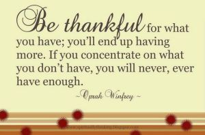Oprah's Thankful Quote