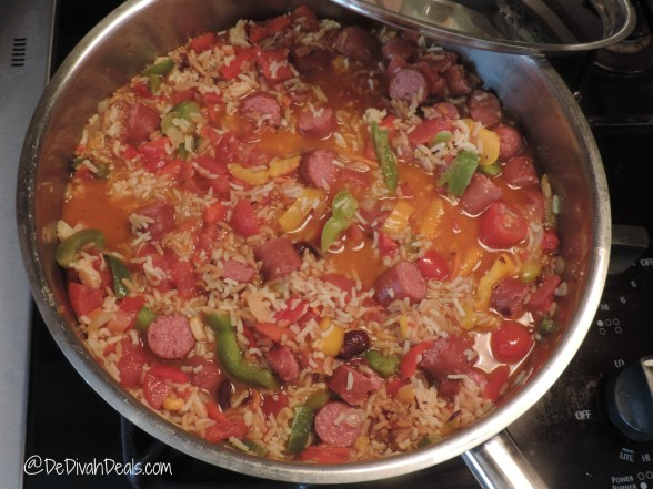 add and stir rice