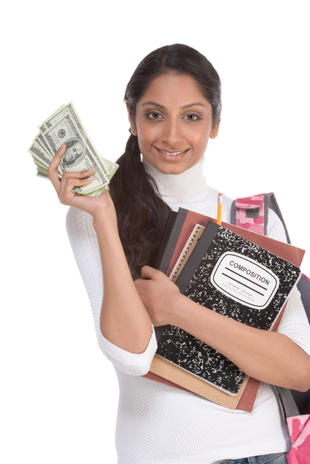 college student and money