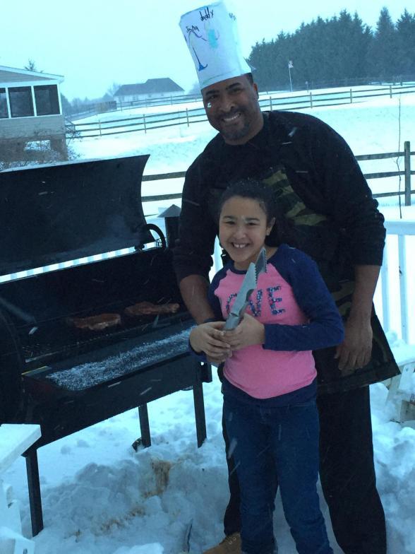 Friends grillin in the #2016Blizzard