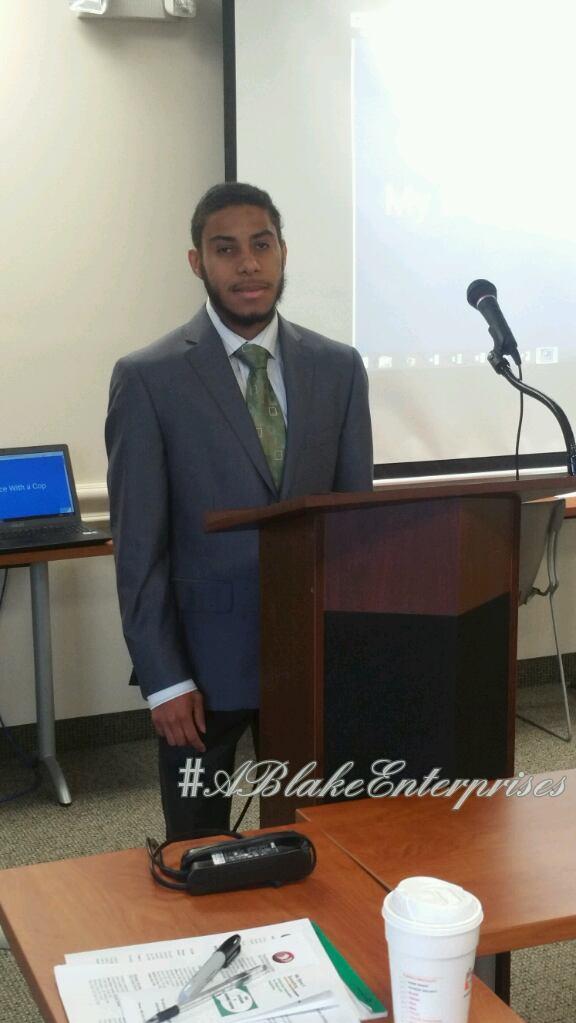 Tayair giving a presentation at DHSS
