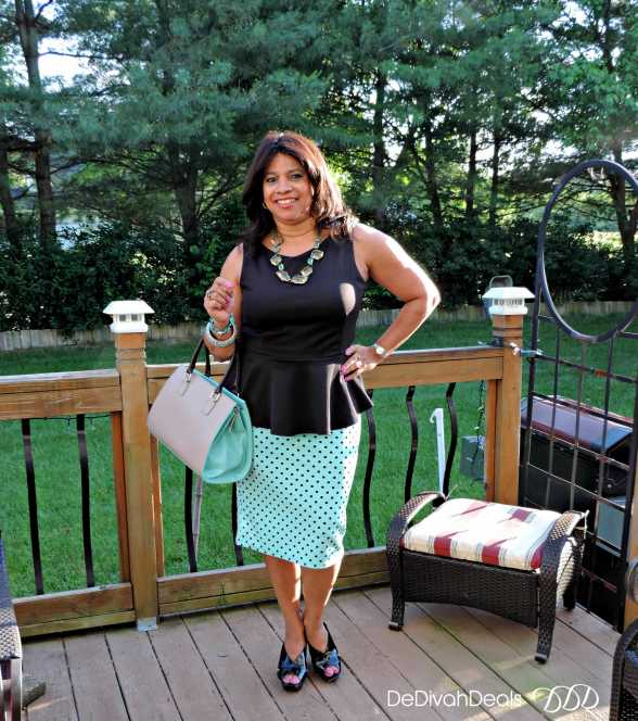 peplum top from JC Penney