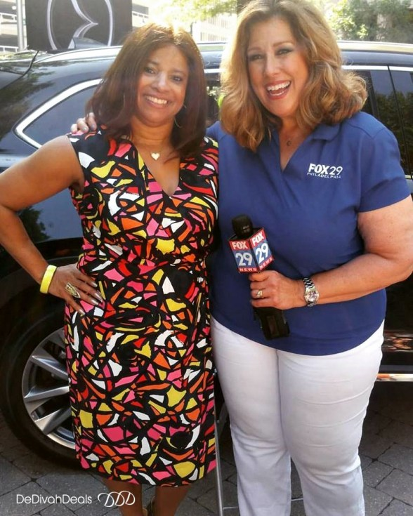 met sue Serio from Fox 29 Philly