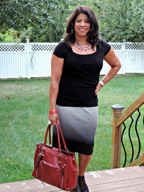 pencil skirt and top
