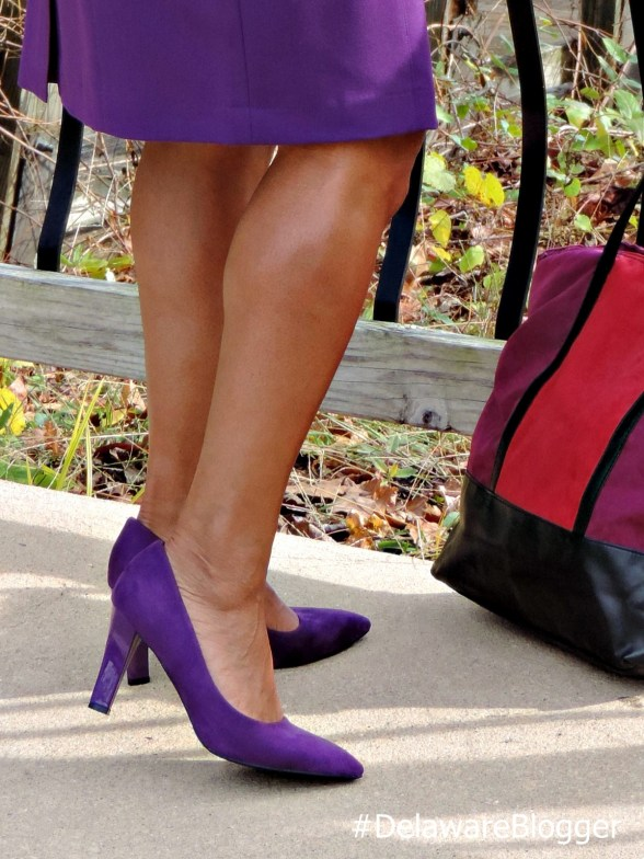Plum Suede Pumps from Metrostyle