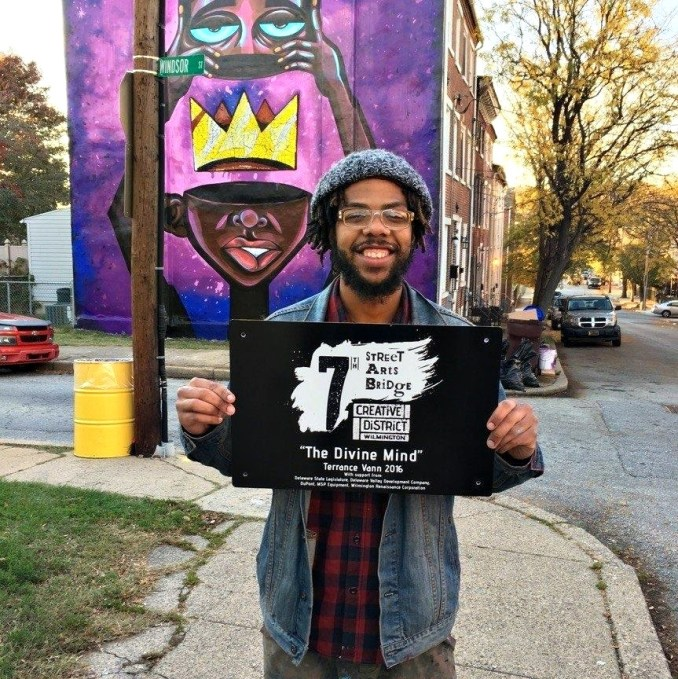 Local artist and illustrator Terrance Vann