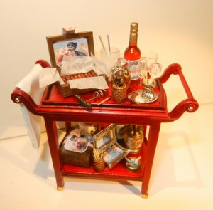 CIGAR TROLLEY - With drinks!