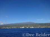 Hualalai Volcano and Kona town