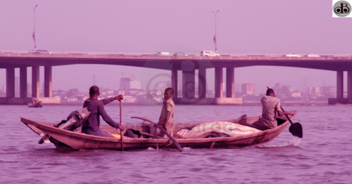 Just behind the 3rd Mainland Bridge is VI, see it?
