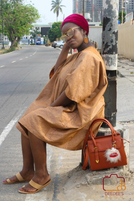 agbada on the street of Lagos