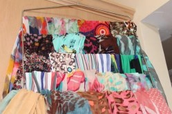 Arrange scarves where you can see them clearly