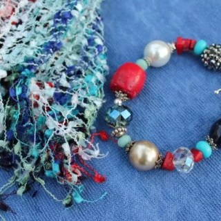 July 4th Bracelet and Scarf